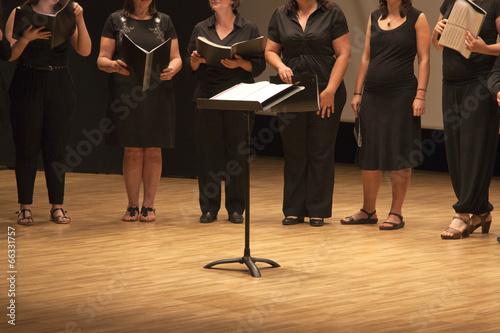 Carta da parati Coro con partituras