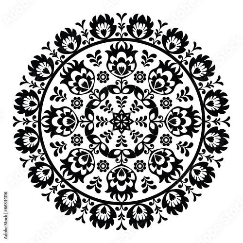 polish-folk-art-pattern-in-circle-wzory-lowickie-wycinanki