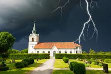 Stormy Clouds Over Swedish Chu...