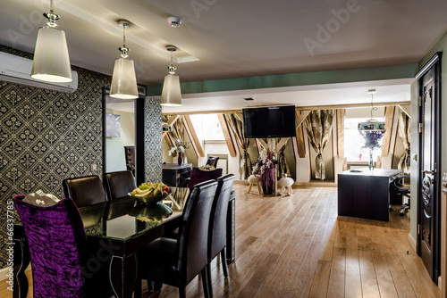 Fotografía  Luxury interior of modern dining room