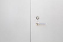 White Modern Metal Door And Metal Handle