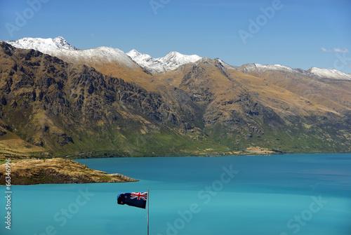 Papiers peints Nouvelle Zélande Lake Wakatipu, New Zealand