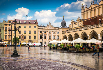 Obraz na Plexi Architektura Krakow - Poland's historic center, a city with ancient