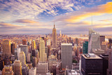 Fototapeta Nowy Jork - Sunset view of New York City looking over midtown Manhattan