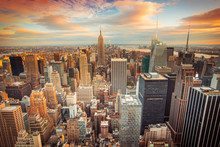 Sunset View Of New York City L...
