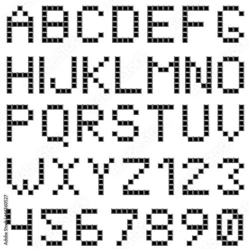 Poster Pixel Square box styled font set