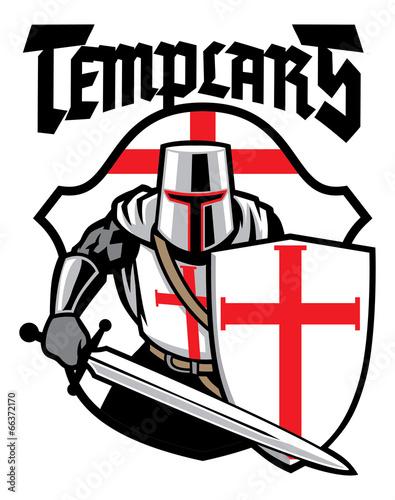 Photo  templar knight mascot