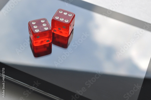 Foto  Abstract on-line gambling