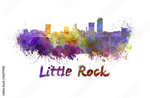 Photo Stands Beijing Little Rock skyline in watercolor