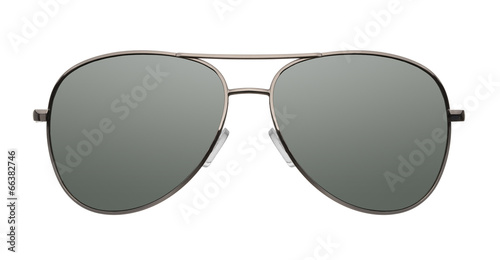 Aviator sunglasses isolated on white background Canvas Print