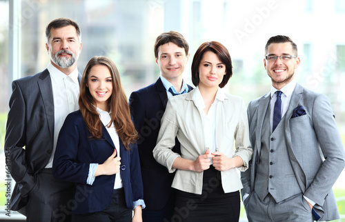 Fotografie, Obraz  Happy smiling business team in office