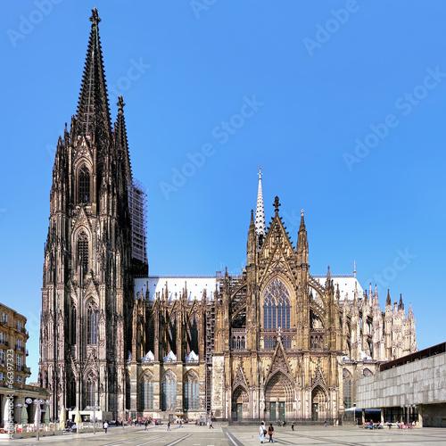 Cologne Cathedral At Dusk Evening Cityscape Wallpaper: Foto-Schiebevorhang Mit Schiene Städte & Skylines