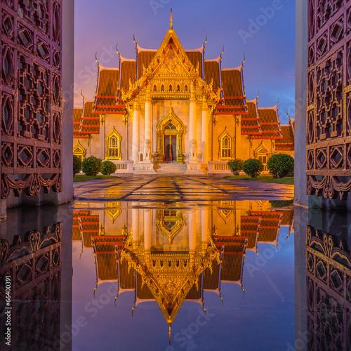 Temple(Wat Benchamabophit), Bangkok, Thailand Canvas Print