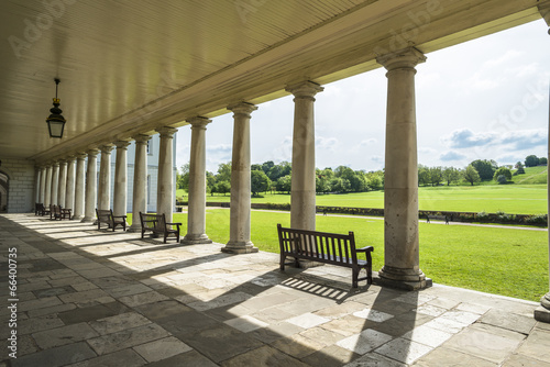 Queen's House, Greenwich, England - view through the columns Fototapeta