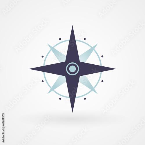 Blue minimal compass Tableau sur Toile