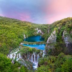 Fototapeta Wodospad Breathtaking view in the Plitvice Lakes National Park Croatia