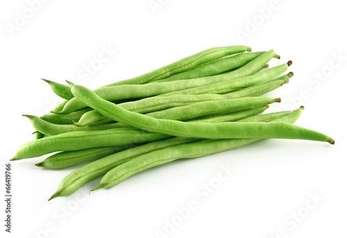 Fotografía  green beans on white background