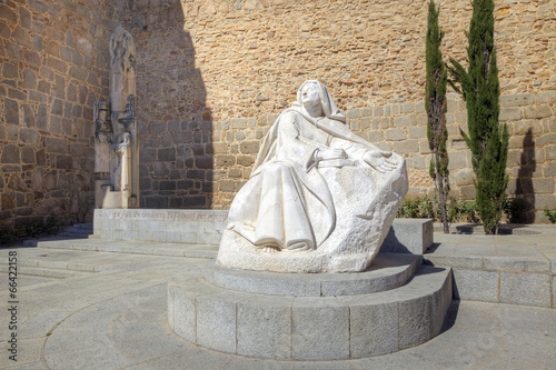 City Avila, sculpture of Saint Teresa