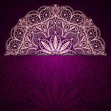 Stylish Purple Background With...