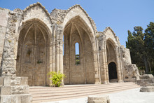 Ruins Of Medieval Church On Rh...