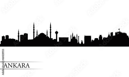 Ankara city skyline silhouette background Canvas Print