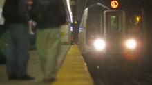 NYC Subway Passengers Boarding Tilt Shift