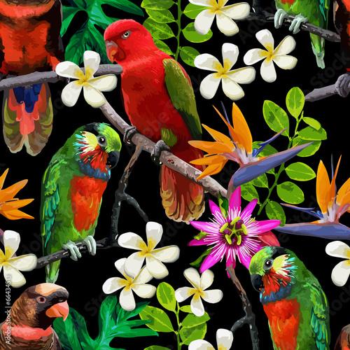 egzotyczne-ptaki-i-piekne-kwiaty