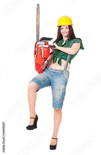 Fotografia, Obraz  Girl lumberjack