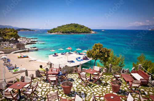 Photo Beautiful Ksamil beach in Albania.