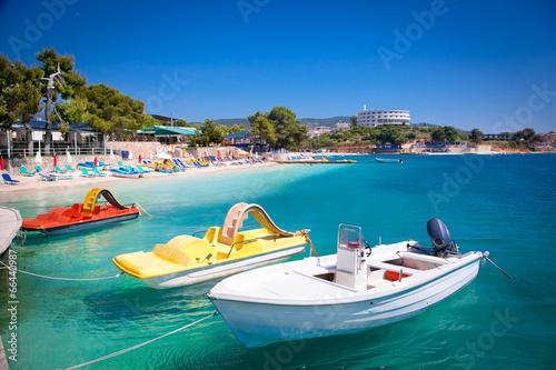 Photo Beautiful Ksamil beach in Albania.