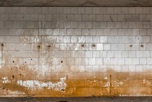 Old Tiled Wall Of An Industria...