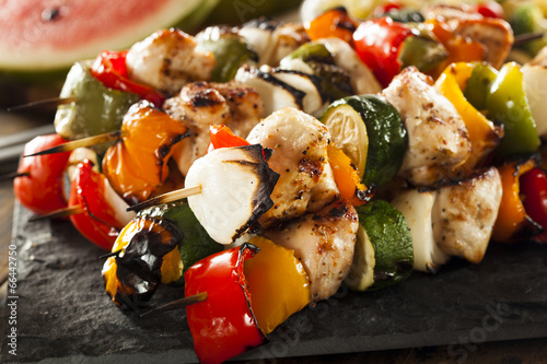 In de dag Grill / Barbecue Homemade Chicken Shish Kabobs