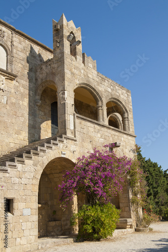 In de dag Cyprus Ancient fortification on Rhodes island, Greece