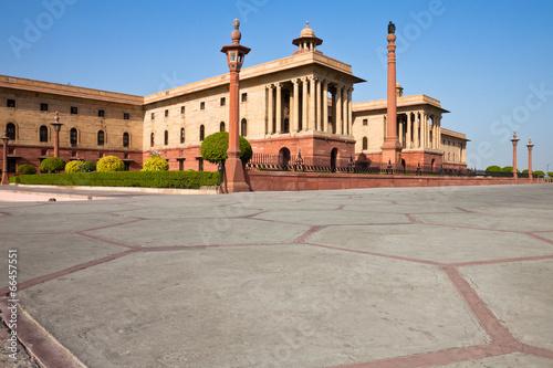 In de dag Theater North Block of the President House in Delhi