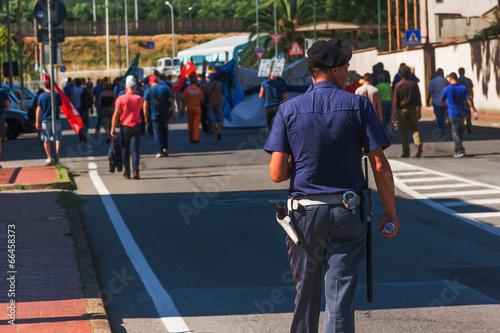Fotografie, Obraz  Manifestazione di protesta