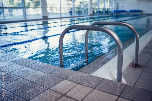 Fotografie, Obraz  Swimming pool with hand rails