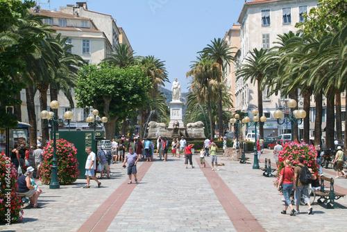 Foch square at Ajaccio on the island of Corsica Canvas Print