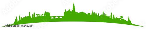 Foto op Plexiglas Groene Skyline Südeuropa grün