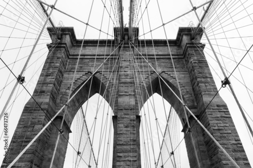Fototapeta Brooklyn bridge in new york - USA obraz na płótnie
