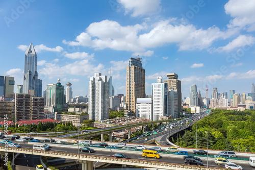 Poster Australie modern city skyline and transportation