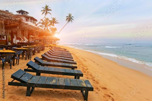 Fototapeta Early morning on beach obraz