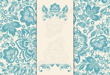 Elegant Background With Lace O...