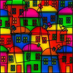 Obraz Stained Glass Village