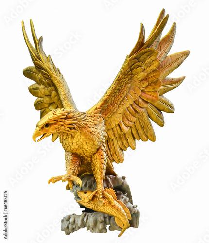 In de dag Eagle golden eagle statue