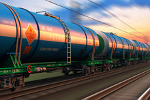 Freight Train With Petroleum T...