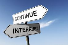 Continue And Interrupt Directi...