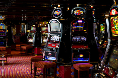 Spoed Foto op Canvas Las Vegas slot machine