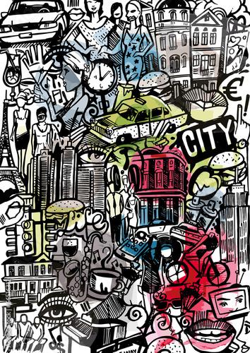 wektorowy-powielony-wzor-z-elementami-miasta-w-stylu-doodle