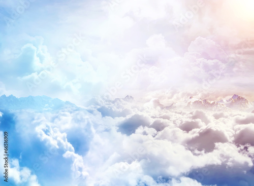 Foto op Canvas Hemel Over the Clouds