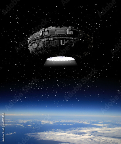 Foto op Canvas UFO Alien Spaceship